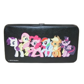 Buckle Down Kid's My Little Pony Hinged Card Case Wallet - Black - One Size