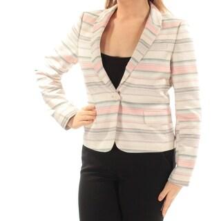 Tommy Hilfiger NEW Beige Striped Women's Size 8 Single Button Blazer