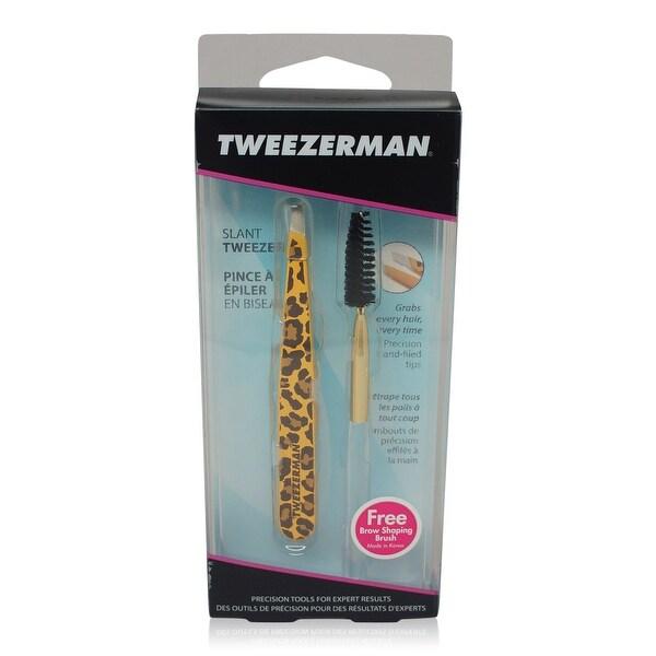 Tweezerman Slant Tweezer Leopard Print