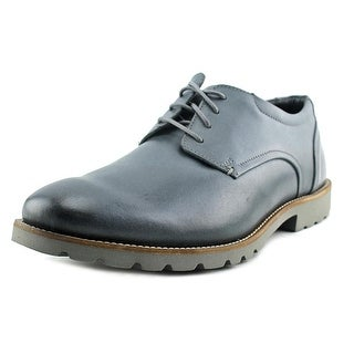 Rockport Colben Men W Round Toe Leather Gray Oxford