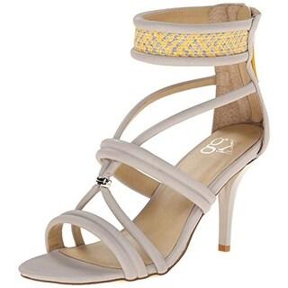 gx by Gwen Stefani Womens Adams Faux Leather Woven Dress Sandals