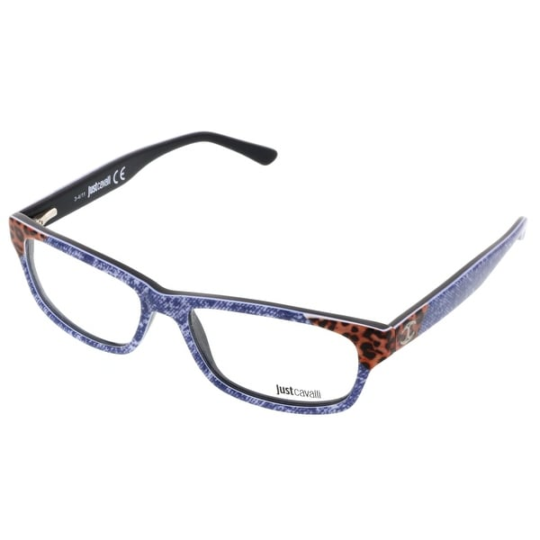 Just Cavalli JC0458/V 092 Denim Rectangle Optical Frames - 53-15-140