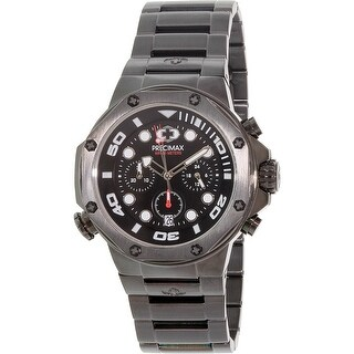 Precimax Men's Guardian Pro PX14006 Black Stainless-Steel Plated Fashion Watch