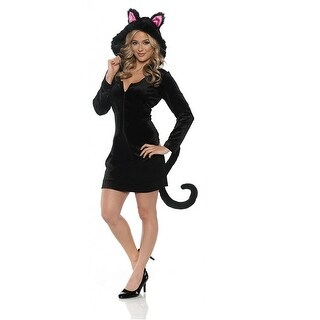 Women's Black Cat Mini Dress Costume