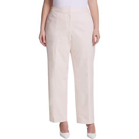 Calvin Klein Womens Plus Straight Leg Pants Day To Night Office