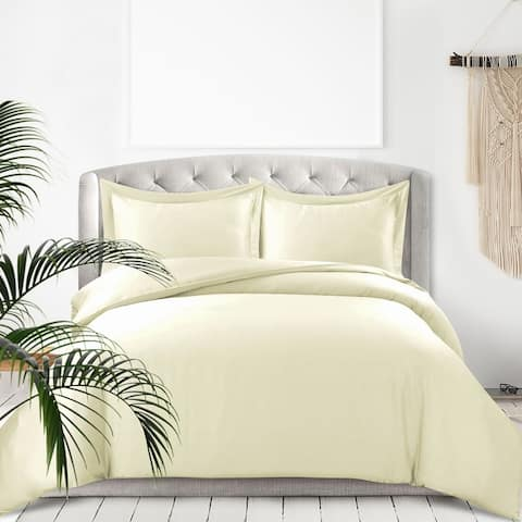 Rayon from Bamboo 300 Thread Count Oversized Duvet Cover Set