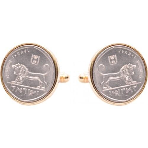 Israeli Coin Cufflinks Half Shekel Coin Collector Memorbilla