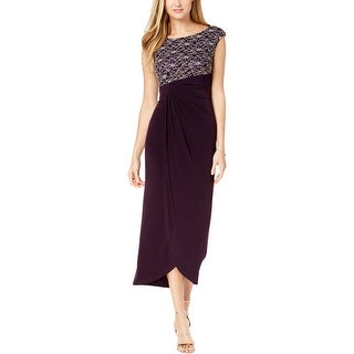 Connected Apparel Womens Evening Dress Lace Sleeveless