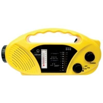 Stansport Solar / Crank Powered Radio And Flashlight