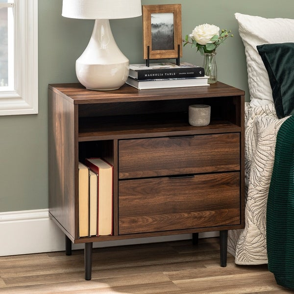 Carson Carrington 25-inch Modern Storage Nightstand. Opens flyout.