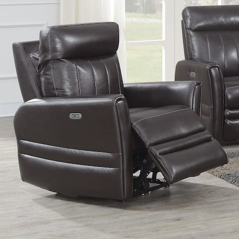 Colfax Power Reclining Top Grain Leather Chair by Greyson Living