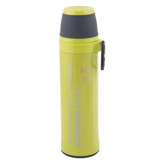 Stainless Steel Cylindrical Heat Resistant Water Bottle Vacuum Cup Green 550ml