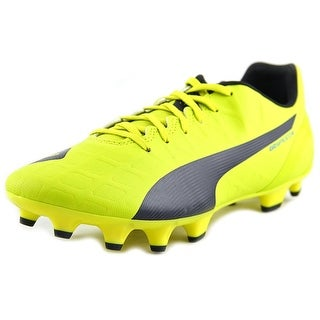 Puma evoSpeed 4.4 FG Women Round Toe Synthetic Yellow Cleats