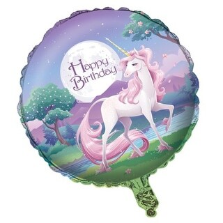 Pack of 10 Unicorn Fantasy Pastel Purple and Classic Pink Metallic Foil Party Balloons 18""