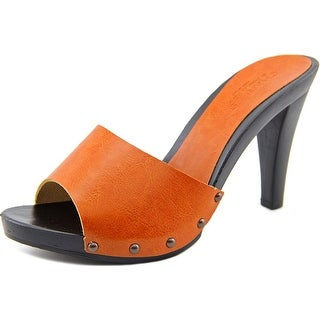 Charles By Charles David Salve Women Open Toe Leather Brown Sandals