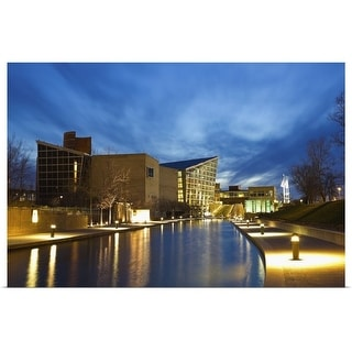 """""""Indiana, Indianapolis, Skyline with Indiana State Museum"""" Poster Print"""