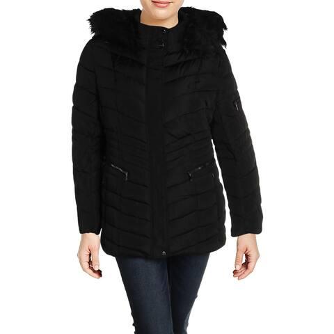 Nanette Nanette Lepore Womens Plus Puffer Coat Winter Chevron
