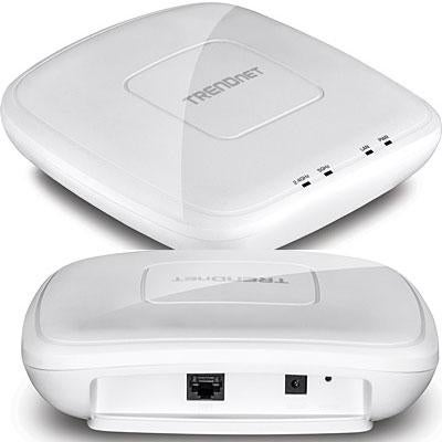 Trendnet Ac1200 Dual Band Poe Access Point, 867 Mbps Wifi Ac+ 300 Mbp Wifi N Bands, Client, Weds, Ap, Wds Bridge, Wds St