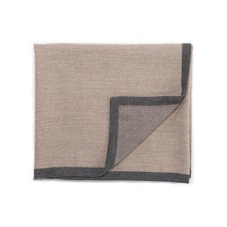 "Gray/Tan Baby Alpaca Throw - LIM02 50""x60"""