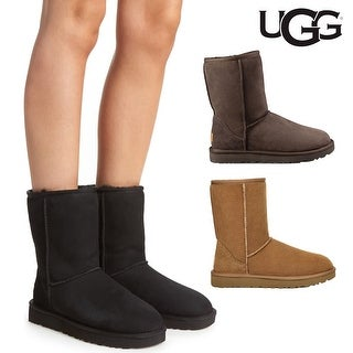 Link to UGG Women's Classic Short II Genuine Shearling Lined Boots Similar Items in Women's Shoes