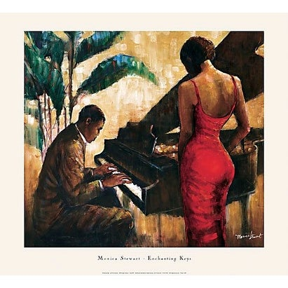 ''Enchanting Keys'' by Monica Stewart African American Art Print (26.5 x 29 in.)