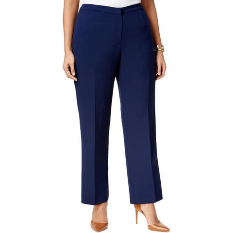 KASPER Womens Navy Straight leg Wear To Work Pants Size 20W