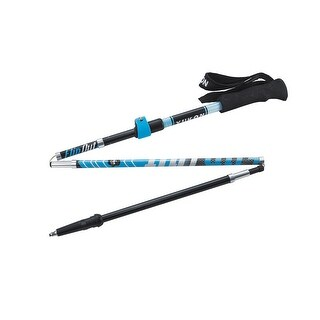 YC FlipOut Trekking Pole - Carbon-Blue/Gray 83-0107