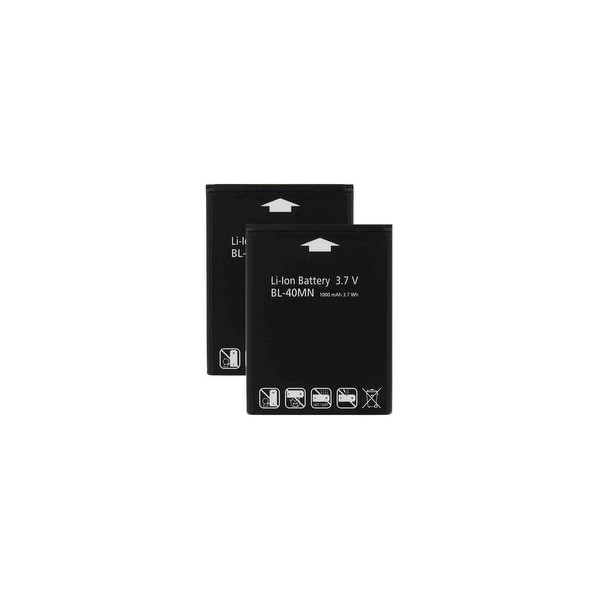 Replacement Battery for LG BL-40MN (2 Pack)