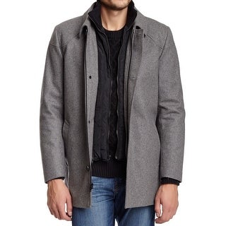 Vince Camuto NEW Gray Mens Size Medium M Wool Blends Melton Car Coat
