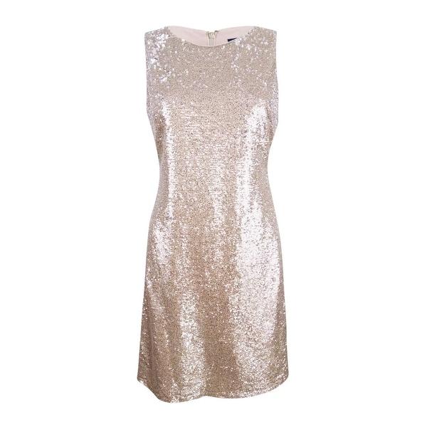6333c38b128dd Tommy Hilfiger Women's Heathered Sequin Dress - Champagne