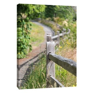 "PTM Images 9-105765  PTM Canvas Collection 10"" x 8"" - ""Woods Fence"" Giclee Forests Art Print on Canvas"