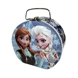 Disney Frozen Elsa, Anna & Olaf Semi-round Shaped Blue Tin Box