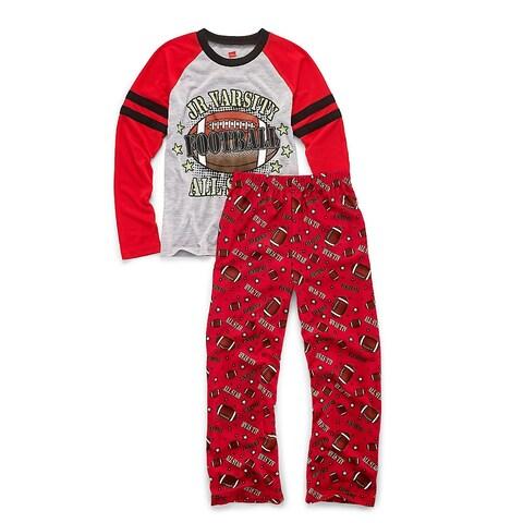 Hanes Boys' Sleepwear 2-Piece Set, JV All-Star Print - Size - 10/12 - Color - JV Allstar