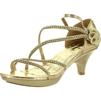 572c1fae1e169b Delicacy Womens Angel48 Open Toe Rhinestones Med Low Heel Party Dress Sandal