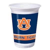 96 NCAA Auburn University Tigers Plastic Drinking Tailgate Party Cups - 20 oz. - Blue