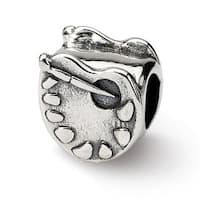 Sterling Silver Reflections Artists Palette Bead (4mm Diameter Hole)
