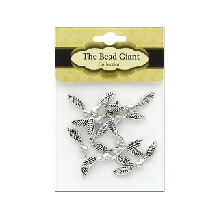 41561 The Bead Giant Bead Angel Wing Heart 25mm 10pc Slr