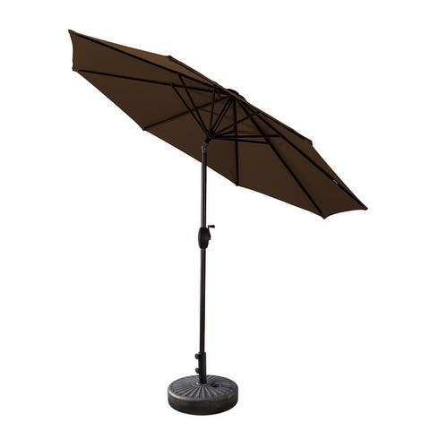 Lopes 9-foot Patio Umbrella with Bronze Base