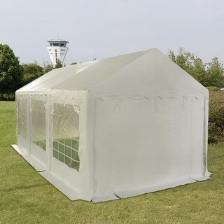 Costway 10'X20' Wedding Tent Shelter Heavy Duty Outdoor Party Canopy Carport White