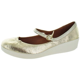 FitFlop Women's Casual F Pop Mary Jane Flats