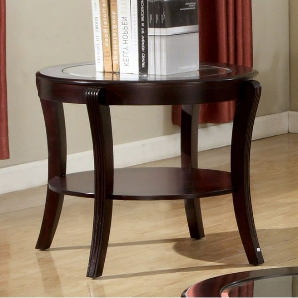 Contemporary Style End Table, Expresso Finish