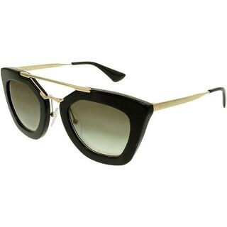 Prada Women's Gradient PR09QS-1AB0A7-49 Black Cat Eye Sunglasses