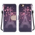 Insten Eiffel Tower Leather Case Cover Lanyard with Stand/ Diamond For Apple iPhone 6/ 6s - Thumbnail 0