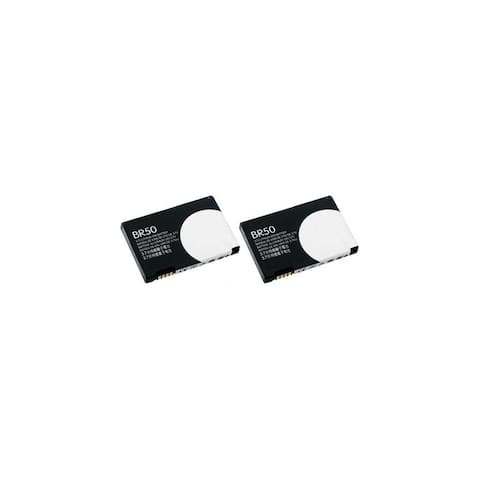 Replacement Battery For Motorola BR50 Fits Razr V3 V3i V3ie V3m V3r V3t MS500 PEBL U6 U6C - 2 Pack