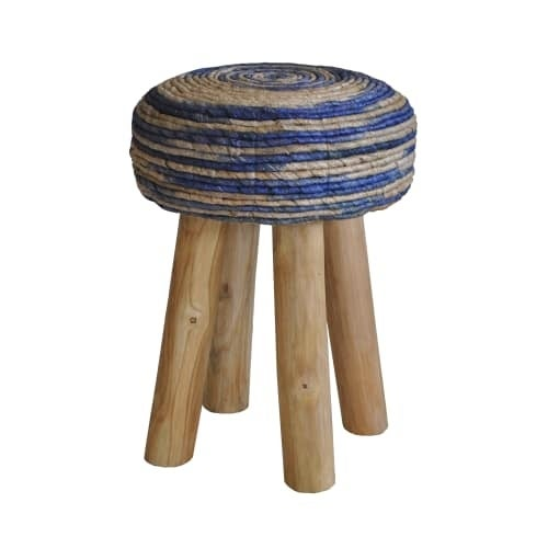 Moes Home Collection Iz 1007 Bali 20 Inch Tall Teak Wood Accent Stool