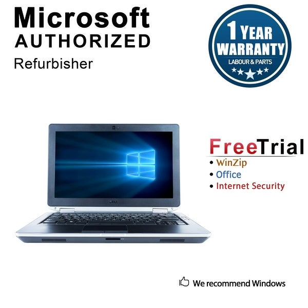 "Refurbished Dell Latitude E6320 13.3"" Laptop Intel Core i7 2620M 2.7G 4G DDR3 1TB DVDRW Win 10 Pro 1 Year Warranty - Black"