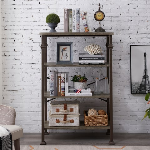 4-Tier Bookcases,Open Etagere Bookshelf, Multi-Functional Shelf Units