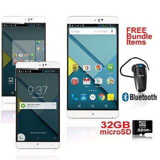 Indigi® 6.0inch Factory Unlocked 3G Smartphone Android 5.1 Lollipop SmartPhone + WiFi + Bundle Included - White