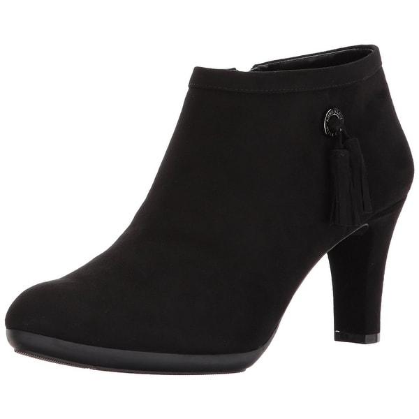 Anne Klein Womens Silva Almond Toe Ankle Fashion Boots