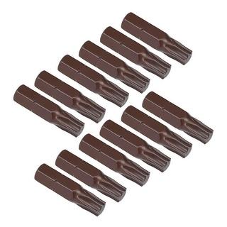 """12pcs 25mm Long 1/4"""" Hex Shank T30 Torx Screwdriver Bits S2 High Alloy Steel - H1/4*25*T30 12pcs"""